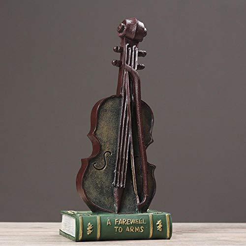 Kreative Vintage Harz Violine Modell Ornamente Fenster Fotografie Requisiten Club Bar Layout B