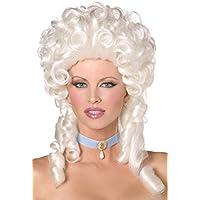 Smiffys 42122 Déguisement Femme Perruque Baroque, Blanc, Taille Unique