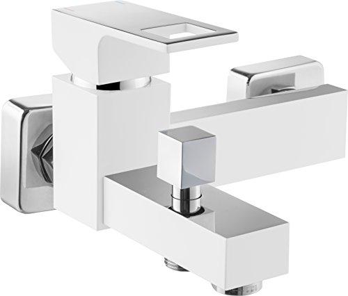 DEANTE Anemon Weiß Wannen Armatur Einhand Wannenbatterie Einhebelmischer Brause Aufputz ohne Duschset Luxusmall