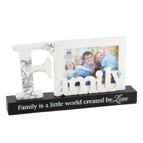 """New item Juliana Home Living (FW437SIS) - Cornice portafoto intagliata con scritta """"Family"""" (in lingua inglese)"""