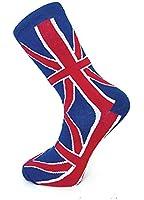 Men's Union Jack Design Cotton Rich Ankle Socks Size 6-11