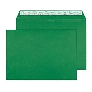 Creative Colour 408 Wertbriefumschlag, Haftklebung mit Abziehstreifen, 120 g/m², C4, 250-er Pack, stechpalmgrün