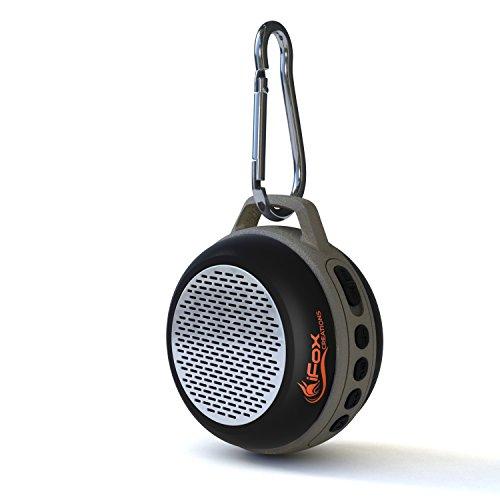 iFox IFS303 - Bluetooth-Lautsprecher mit FM-Radio, AUX, SD und Freisprechfunktion - Für iPhone, iPad, iPod, Android oder PC - Ultrakompakt & Tragbar - Für Außen- & Innenbereich