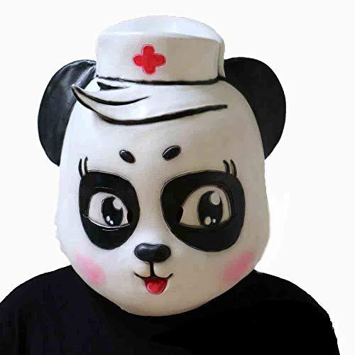 Arzt Kostüm Dämon - Xgsco Tier Panda Arzt Krankenschwester Maske, Halloween Neuheit Latex Cosplay Horror Vollgesichts Requisiten Scary Kostüm Party Erwachsene Spielzeug