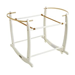 Clair de Lune Deluxe Rocking Moses Basket Stand   5