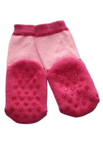 Weri Spezials ABS Pantoufle Chaussons Chaussettes Antiderapants 3-6 Mois (15-16) Rose Rose