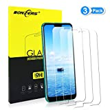 NONZERS Verre Trempé pour Huawei Honor 10, [3-Pack] [2.5D Bords Arrondis] Film de Protection d'Écran en Verre Trempé Transparent, 9H Dureté et 3D Touch Compatible, Installation Facile sans Bulles