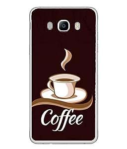 PrintVisa Designer Back Case Cover for Samsung Galaxy J7 (6) 2016 :: Samsung Galaxy J7 2016 Duos :: Samsung Galaxy J7 2016 J710F J710Fn J710M J710H (Tasty Hot Drink Chocolate Hot Morning Coffeecup Aroma)