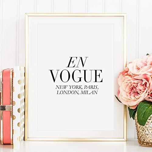 Kunstdruck, Sprüche Poster: En Vogue | Hochwertiges und festes Premiumpapier | Ohne Rahmen