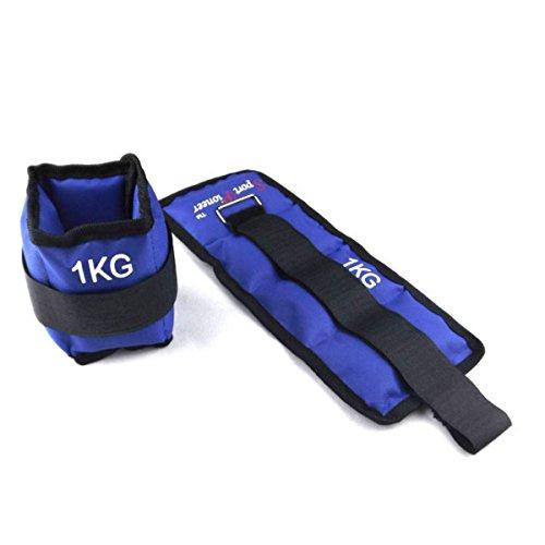 grofitness 1kg/2kg Biomüll Kinder Erwachsene Ankle Gewichte Übung Fitness Comfort Bein Sandsack Handgelenk-Gewichte, 1Paar, 1KG