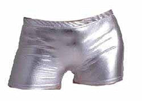exy Neon-und Metallic-Hot Pants Shorts Tutu Frauen halloween Rave emo Tanz Polterabend Club tragen Größe 36-42 (S/M 36-38, Metallisches Silber) (Rave Tutus)