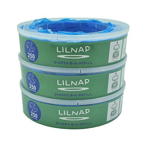 LILNAP - Ricarica compatibile per Mangiapannolini Maialino Angelcare (6 ricariche)