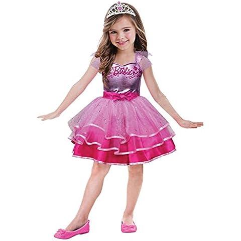 Amscan 999 545 - Traje Niño Barbie Ballet, alrededor de 3 - 5 años, tamaño 104, rosa