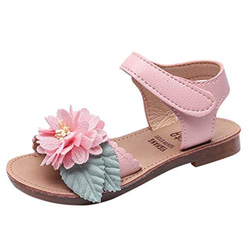 TUDUZ Herbst Kinder Prinzessin Schuhe Mädchen Erbsen Schuhe Mädchen Party Schuhe Freizeitschuhe Slipper Geschlossene Sandalen(Rosa,30EU)