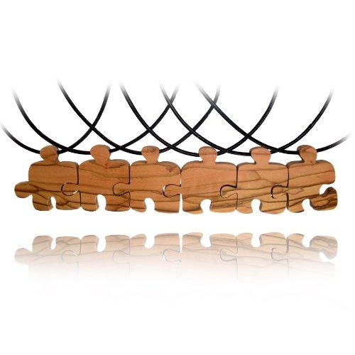 fait-a-la-main-en-bois-dolivier-olive-wood-6-colliers-damitie-amis-puzzle-commerce-equitable