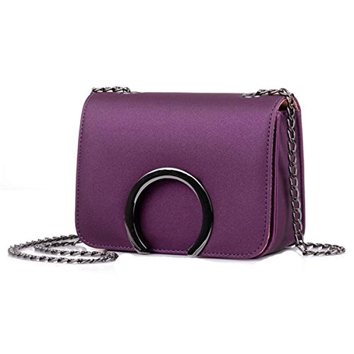 WU Zhi Dame New Candy Color Chain Bag Kleine Square Bag Schulter Messenger Bag Purple