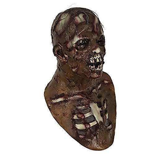 Dead Kostüm Frauen Clown - Horrormaske Unheimlich Resident Evil Zombie Mask Walking Dead Kostüm Bloody Living Dead Requisiten für Halloween-Party@Mehrfarbig 3,Gruselige Maske