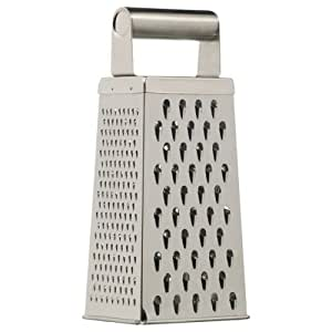 Kitchen Craft Stainless Steel Deluxe Four Sided Grater 24cm