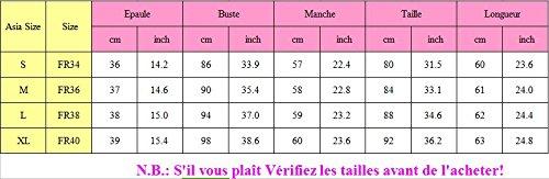 SUNNOW Top Dentelle Femme Haut Femme Col V Femme Tunique Blouse Jean Femme Haut Femme Ete Sexy Col V Hauts Femme Dentelle Chemise Lache Femme Rose