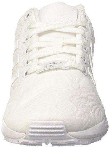 Adidas Zx Flux, Baskets Basses Athlétiques Pour Femme Blanc (ftwr White / Ftwr White / Core Black)
