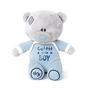 Me To You Tiny Tatty Teddy Cutest Little Boy - Oso de Peluche, Color Azul