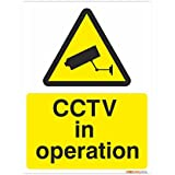 CCTV In Operation Sign 150mm x 200mm Rigid Plastic Complete With Inspirational Print