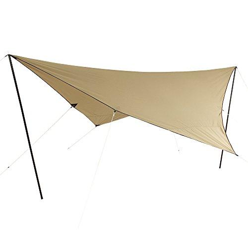10T T/C Tarp 4x4m Sonnensegel aus Baumwolle (Mischgewebe 35/65) mit UV50+ Sonnenschutz, Wasserdicht,...