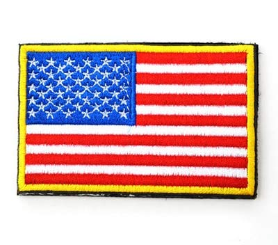 Generic distintivo della bandiera del paese ricamato patch del distintivo dell'esercito 3d tattiche militari tattiche patch di tessuto bracciale da combattimento bandiera del mondo badge: usa