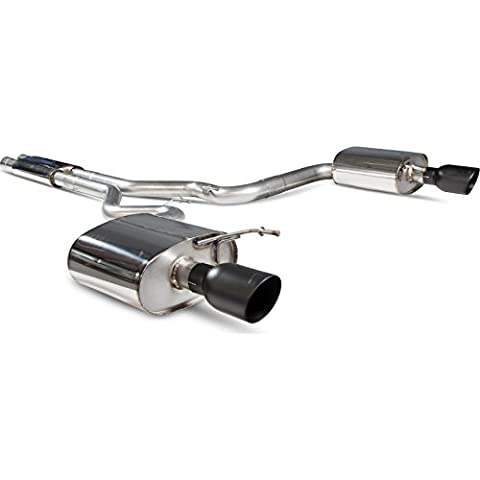 SFD086C - Scorpion Car Exhaust Cat-Back System (Resonated) Twin Daytona BLK - Ford Mustang 5.0 V8 GT 2015 - Current