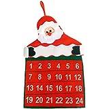 ULTNICE Cuenta atrás para el calendario de Navidad Santa Claus Decoración de Navidad para el hogar