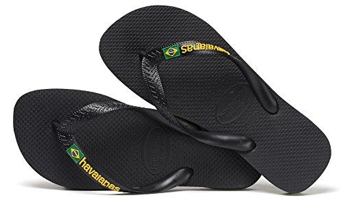 Havaianas Flip Flop/Thong Brazil - Brasil Logo, für Damen und Herren. Unisex. Schwarz. Schwarz