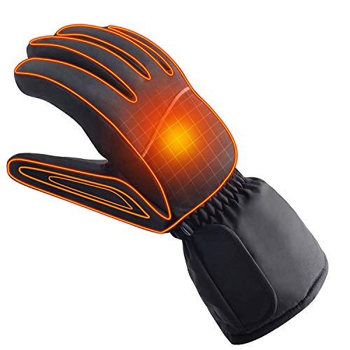 Azornic alimentato a batteria ricaricabile elettrico riscaldato guanti caldi invernali all' aperto guanti termici per uomo e donna, moto o bici equitazione scaldam