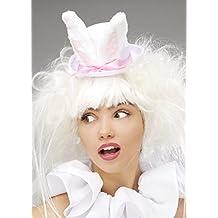 Wonderland White Rabbit Mini sombrero de copa con orejas de conejo