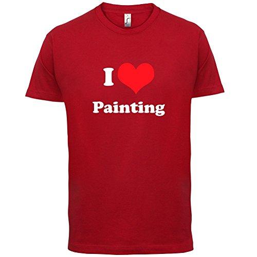 I Love Painting - Herren T-Shirt - 13 Farben Rot