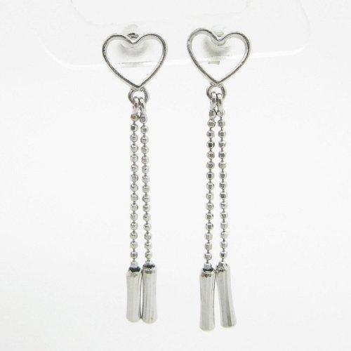 charm-pendants Womens bp74Orecchini a perno italiana, Oro bianco 14K cerchio