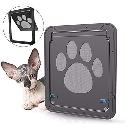 BZAHW 37x42cm Large Medium Hund Katze Pet Tür Bildschirm Fenster ABS Magnetic Auto Lock Klappen (Lock-bildschirm-tür)