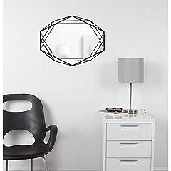 Idea Regalo - Umbra Prisma Specchio Nero, 56.80x43.00x9.00 cm, 3 unità