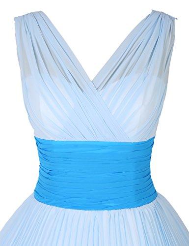 Find Dress Sexy Robe de Soirée Courte pour Noel Femme Robe Demoiselle d'Honneur Mariage Plissé Col en V Robe de Cocktail 1950's Rétro Vintage Rockabilly Jupe en Mousseline Jonquille