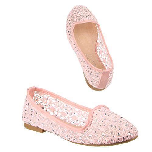 Kinder Schuhe, F-73, BALLERINAS Rosa (31-36)