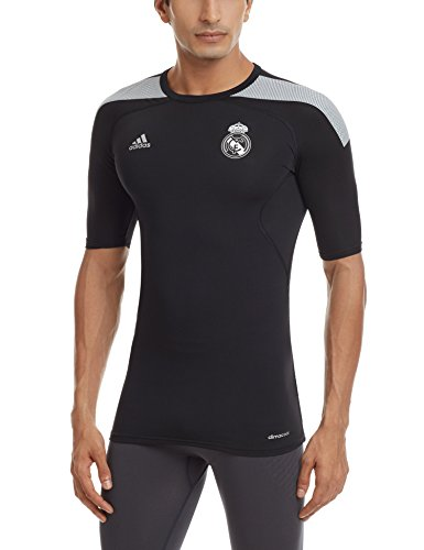 Adidas Tf Cool Real Ss Real Madrid Cf Maglia da Uomo nero/bianco