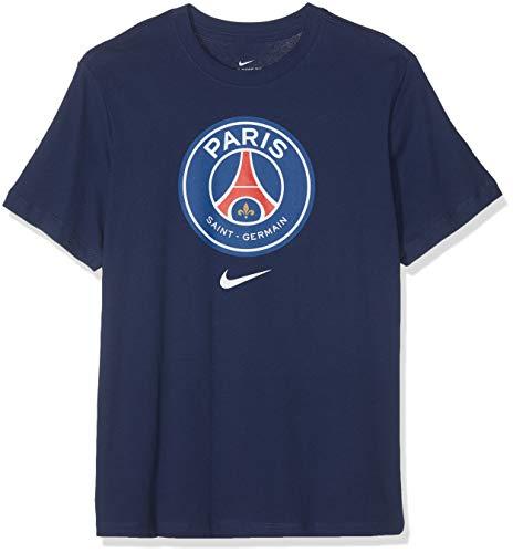 Nike Herren T-Shirt PSG M NK Tee Evergreen Crest, Midnight Navy, M, AQ7452