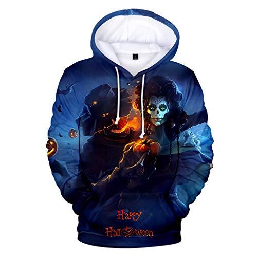 IFOUNDYOU Halloween 3D Kapuzenpullover Herren Gedruckte Lässige Slim Fit Langarm Hoodies Top Sweatershirt