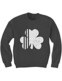 Saint Patrick's Irish Shamrock Four-Leaf Clover Cute Kids Sweatshirt