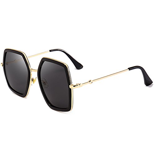 Oversized Gafas de sol irregulares Gafas de sol Oval Ladys para mujer Gafas  Marco de metal 8a9bc20a6d64