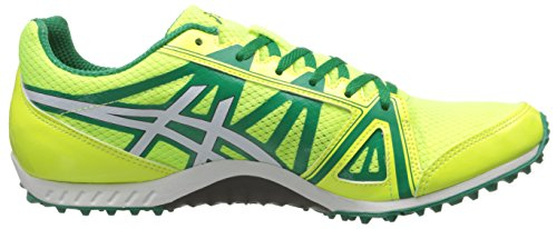 Asics Mens Hyper XC Cross Country Spike Flash Yellow/Kelly Green