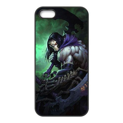 Darksiders coque iPhone 5 5S Housse téléphone Noir de couverture de cas coque EBDXJKNBO15042