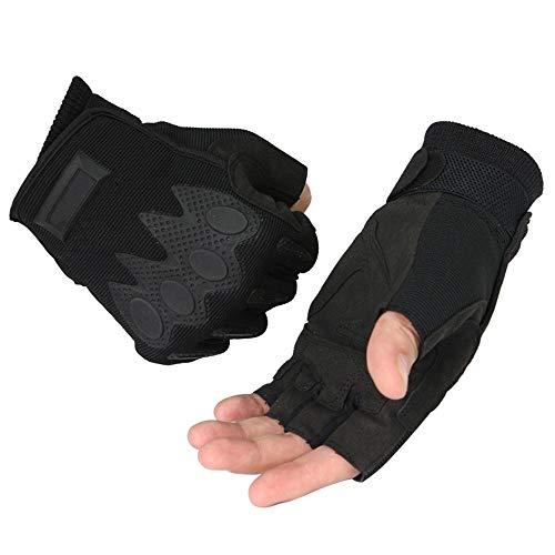 Ningxue-gloves guanti da guida per uomo guanti protettivi per alpinismo senza dita da esterno 1 paio vari guanti (color : black, size : m)