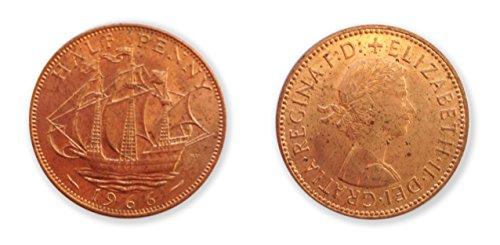 Münzen zum Sammeln - 1966 WeltpokalsiegerJahr uncirculated halben Cent-Münze / 1 / 2p Pence -