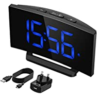 1 minute easy setting 375 large display number and dimmer 3 adjustable alarm sounds digital bedside clock perfect for bedroom - Bedroom Clock