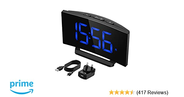 Mpow Digital Alarm Clock[Brightness Upgraded], Digital Clock Bedside Mains  Powered with Snooze Function, 1-Minute Easy Setting, 3 75'' Large Display